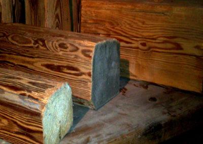 Altholz Muster Sparren und Kantholz – gebürstet