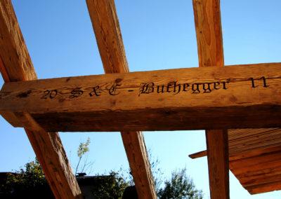 Altholz Sparren und Mittelpfette - handgehackt