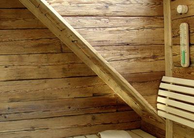 Sauna Altholz Wandverkleidung